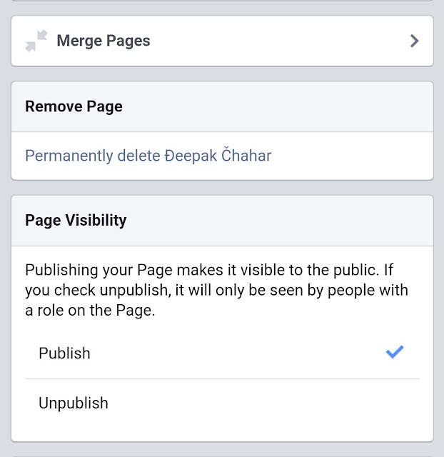 how to delete Facebook page in mobile