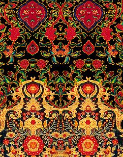 Damask-flower-design-textile-print