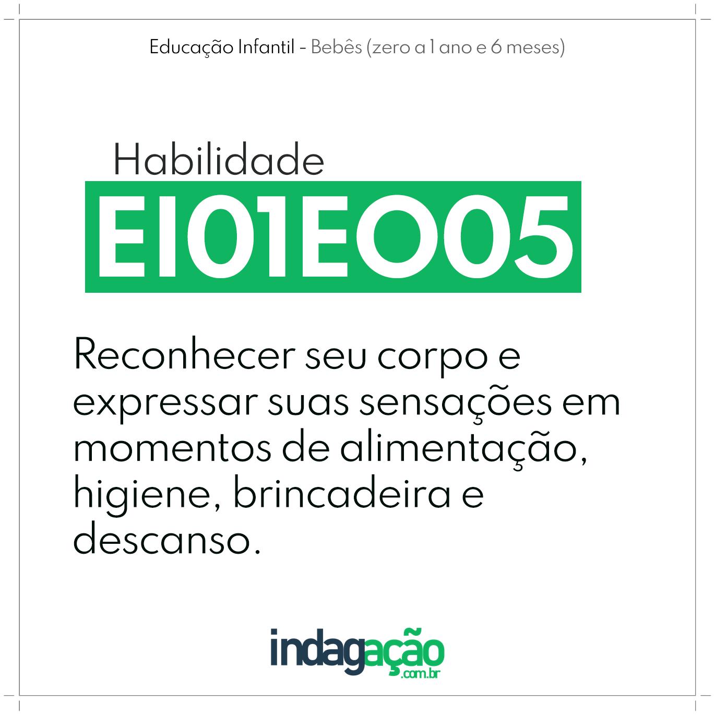 Habilidade EI01EO05 BNCC