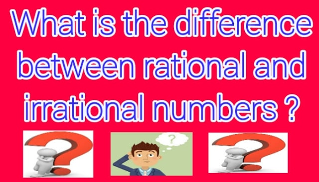 Difference Between Rational And Irrational Numbers Bzu Science