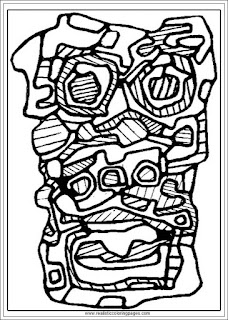 printable jean dubufet art adults coloring pages