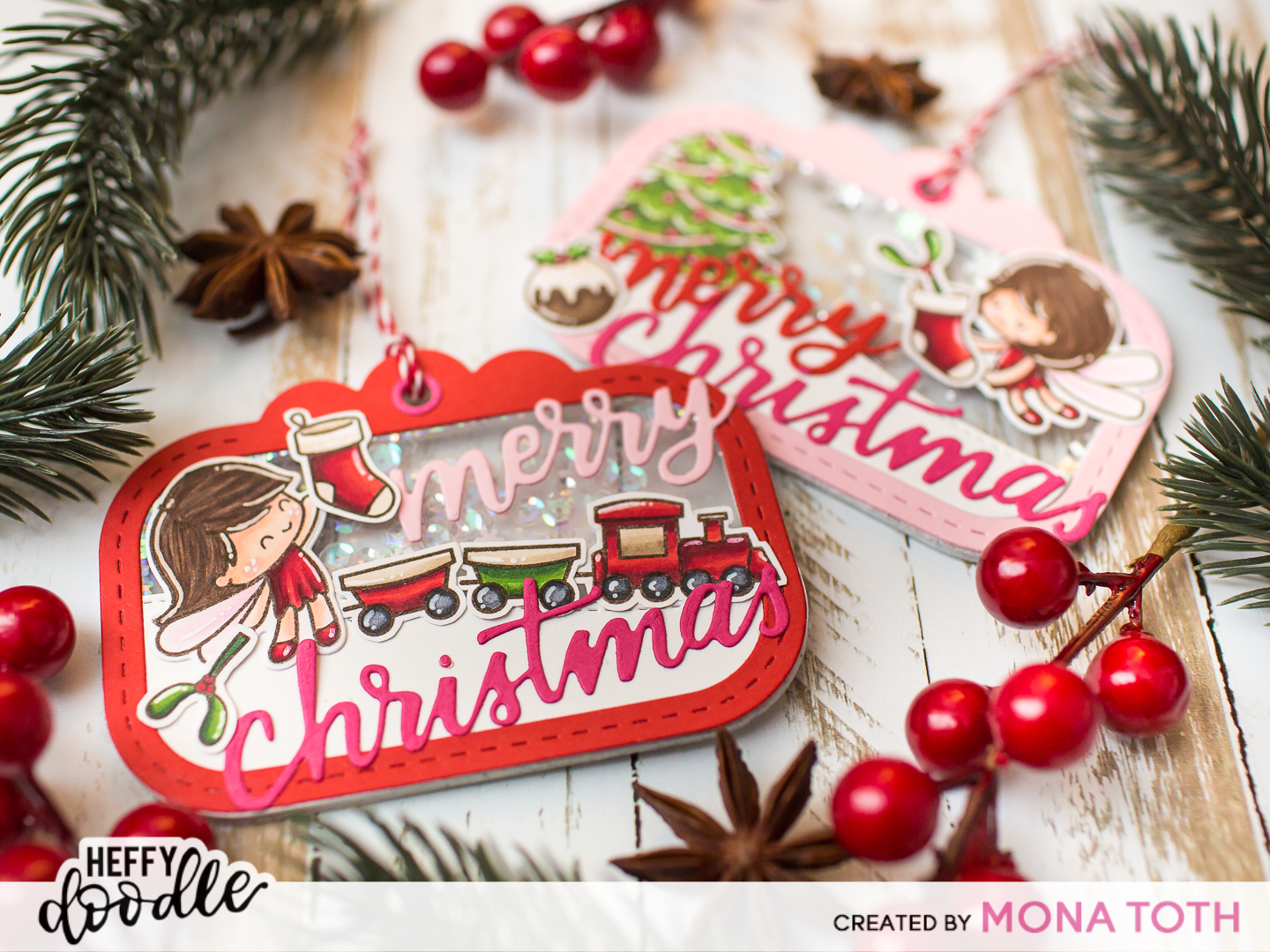 25 Days Of Christmas Tags Day 24 Heffy Doodle Mona Toth