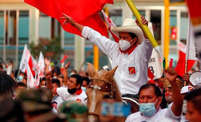 Com pequena margem, sindicalista Pedro Castilho é eleito presidente do Peru