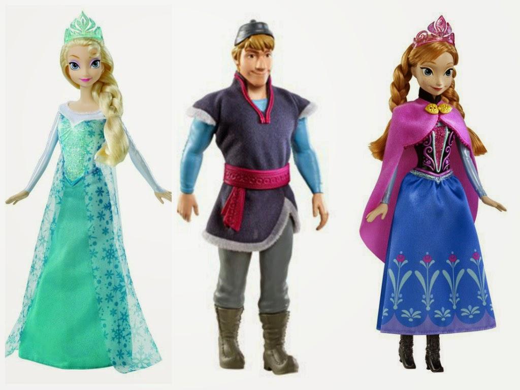 Boneca da Elsa e da Anna frozen
