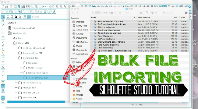 Importing svg library, silhouette studio tutorial, silhouette cameo tutorials