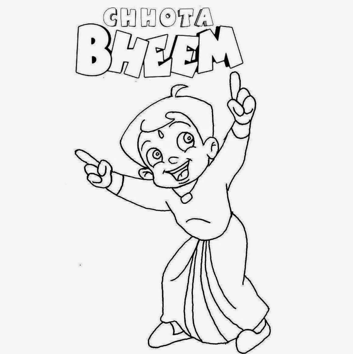 chota bheem drawing for coloring pages | Colour Drawing Free HD Wallpapers: Chota Bheem For Kid ...