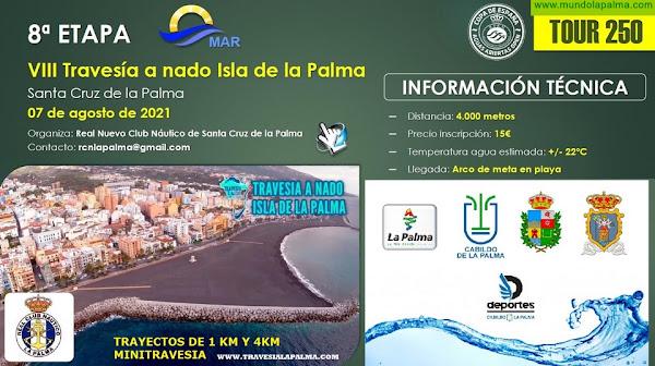 La VIII Travesia A Nado Isla De La Palma será la VIII etapa de la VI Copa de España de Aguas Abiertas RFEN