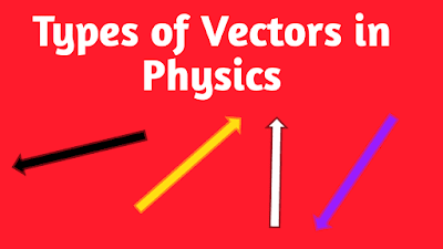 Types of vectors in Physics