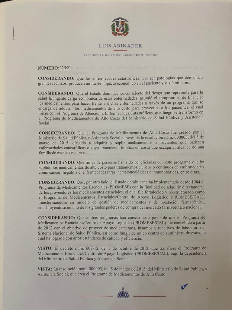 Decreto 113-21