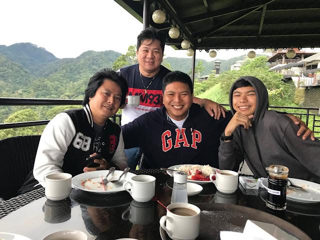 Boys having breakfast at Vista Tala Bataan