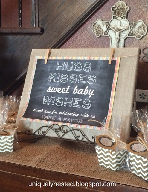 Hugs, Kisses, Sweet Baby Wishes - Gender Neutral Baby Shower
