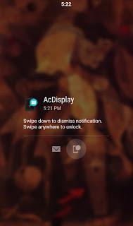 Aplikasi pengunci layar otomatis  hp android terbaik  AcDisplay