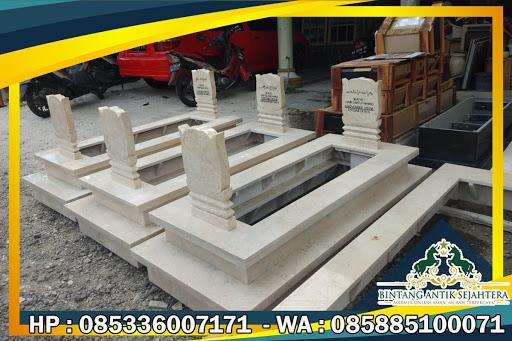 Kijing Makam Model Batu Nisan Kuburan Islam, Kijing Makam Marmer, Model Makam
