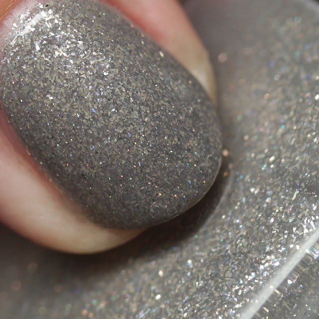 Literary Lacquers Swaying Grayly with top coat