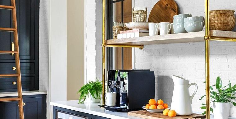 Diseño de cocinas - 38 ideas de estanterías de cocina