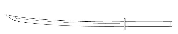 Gambar tepi pisau Katana