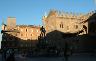 The Piazza Maggiore in Bologna, where Benedict XV was previously archbishop for seven years