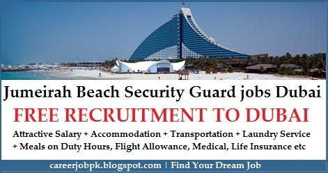 Jumeirah Beach Hotel Security Guard jobs in Dubai
