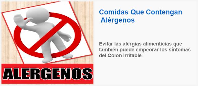 Evitar las alergias alimenticias que también puede empeorar los síntomas del Colon Irritable