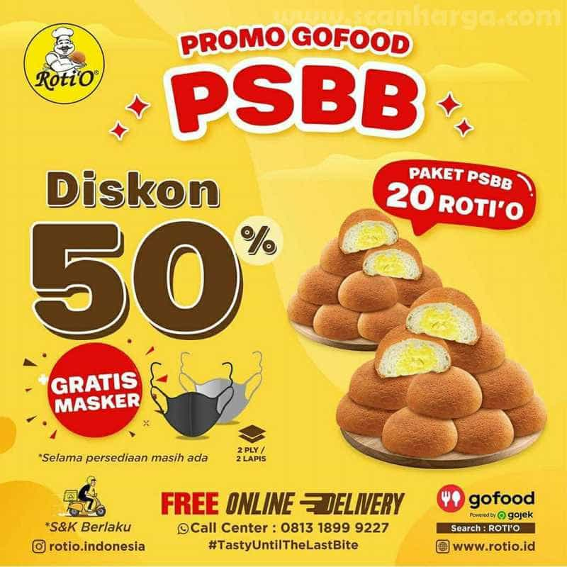 Promo Roti 'O Paket PSBB 20 Rotio Hingga 31 Juli 2020