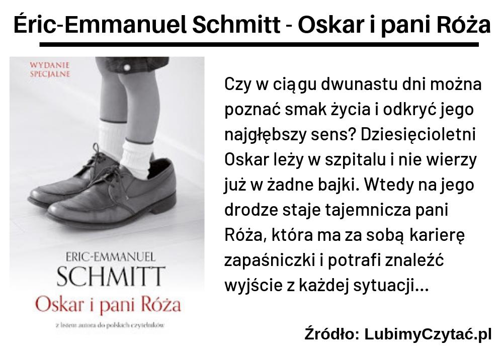 Éric-Emmanuel Schmitt, Oskar i pani Róża, TOP 10, Marzenie Literackie