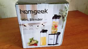 20171228 144607 Homgeek Mini Blender, frullatore per smoothies, frutta, verdura con due bicchieri staccabili