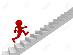 stair running stairs staircase character illustration stage 3d middle go climb clipart human clip person ladders sit strategy illustrations sng