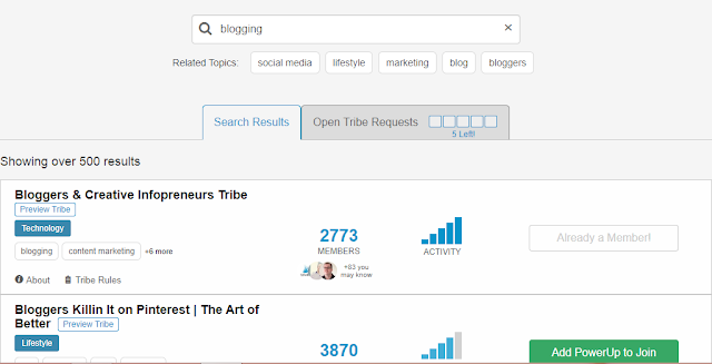 join tribes to drive traffic from Pinterest