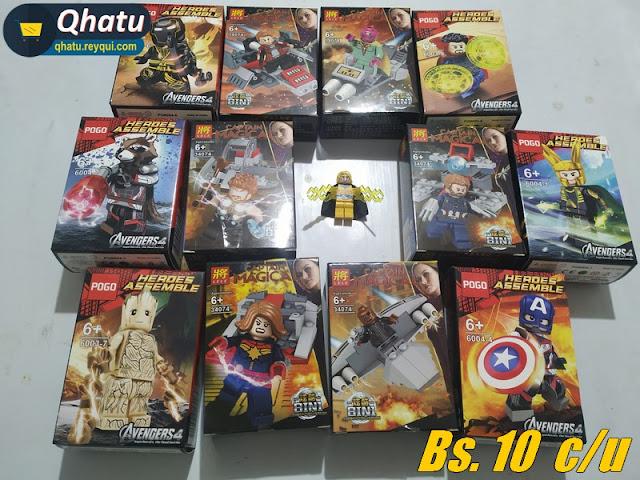 (Bs. 10) Figuras tipo Lego en caja: diferentes modelos #QT19