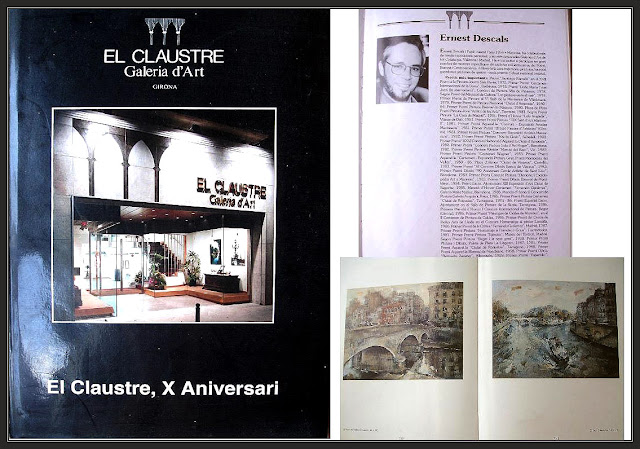 LIBROS-PINTURA-ARTE-LIBRO-GALERIA-EL CLAUSTRE-GIRONA-CUADROS-PARIS-ARTISTA-PINTOR-ERNEST DESCALS