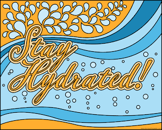 Stay Hydrated! coloring page to download, print and color