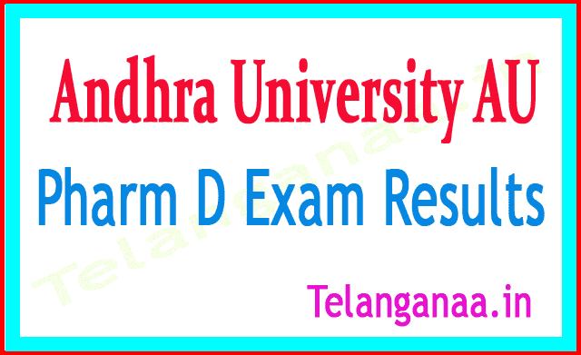 Andhra University AU Pharm D 2018 Exam Results