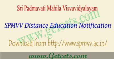 SPMVV distance education notification 2021, dde admissions