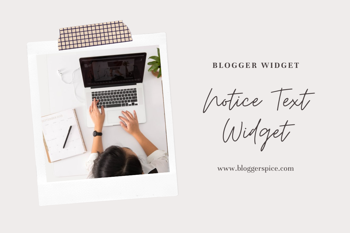 How to add special note or notice text widget in Blog post