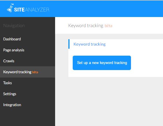 Kiểm tra từ khóa tại Keyword tracking