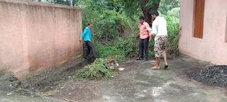 ग्रामीणों ने चलाया स्वच्छता अभियान