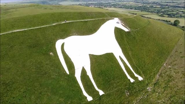 The White Horse of Westbury Wiltshire (england)