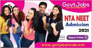 NTA NEET Admission Online Form