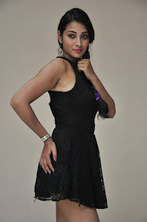 Actress Bhanu Sri Stills in Black Short Dress at Dandu Movie Audio Launch  0003.jpg