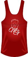 camiseta tiranta malla mujer roja