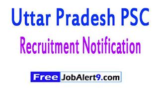 Uttar Pradesh PSC Recruitment Notification 2017