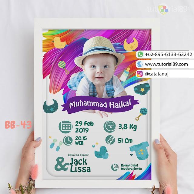 Biodata Bayi Costume Unik Kode BB43 | Koas Abstrak