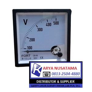 Jual Fort Voltmeter Analog Jarum  0 - 500 Volt
