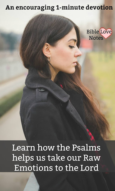 We can't avoid emotions, but it's important we handle them Biblically. The Psalmists offer wonderful examples. #BibleLoveNotes #Psalms #Bible