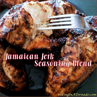Jamaican Jerk Seasoning Blend can be used as a dry rub on pork or fish, mix it with vegetable oil to marinate chicken, or add to soups and stews. | Recipe developed by www.BakingInATornado.com | #recipe #dinner