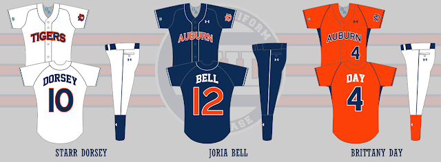 auburn softball uniform 2008