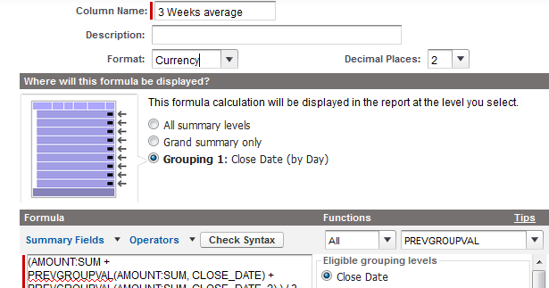 Infallible Techie: PREVGROUPVAL in Salesforce Reports