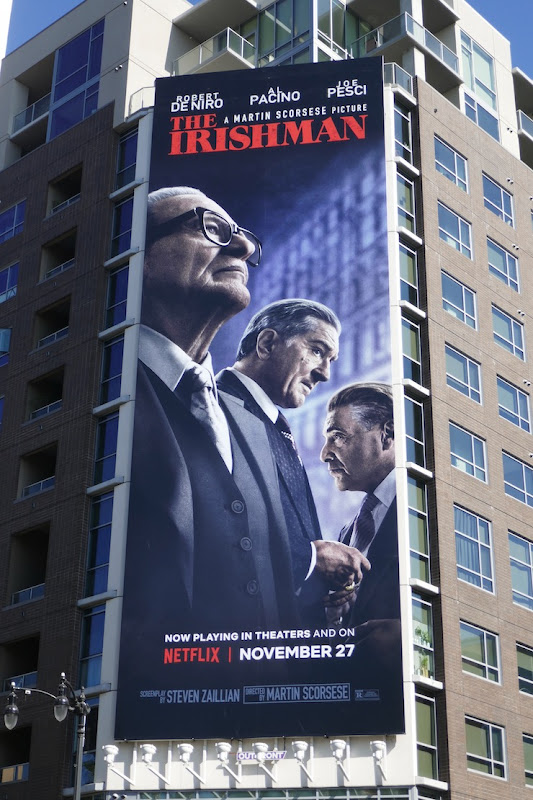 Irishman Netflix movie billboard