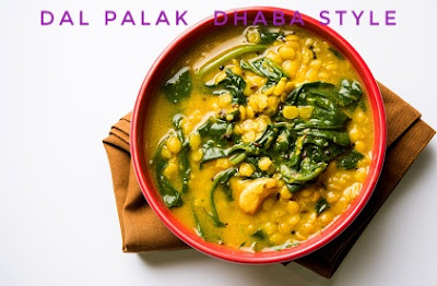 Dal Palak Dhaba Style