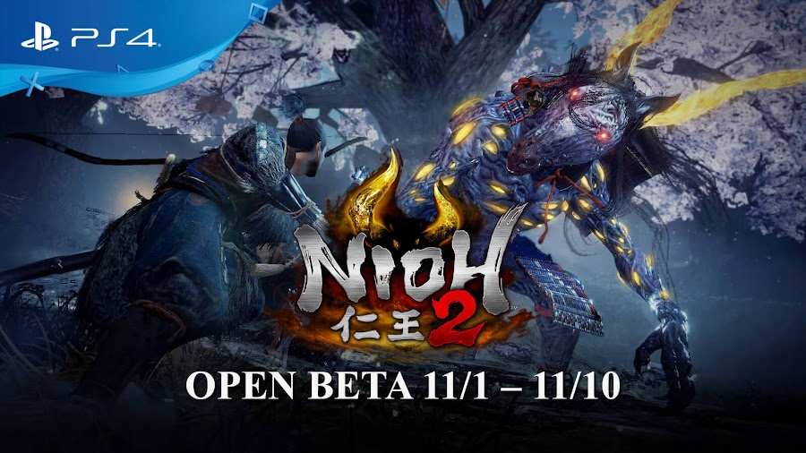 nioh 2 open beta release date ps4 november 2019 team ninja koei tecmo games sony interactive entertainment